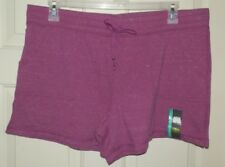 New Womens Knit Shorts front Pockets size XXL (20) Pass Plum Heather Athletic