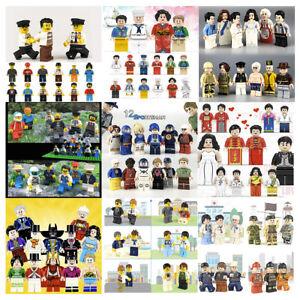 Bulk 12 City Minifigures Community City Mini Figures Building Bricks fits Legos