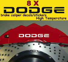 8 X Dodge Brake Caliper Decal Sticker Graphics Vinyl Logo Emblems Car A