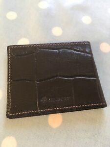 Mulberry Vintage Congo Leather Bifold Card Holder Mini Wallet Black