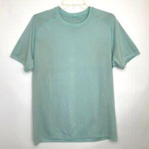 Lululemon Men Vent Tech Crew Neck Short Sleeve Shirt Medium ? Teal Blue Flaws