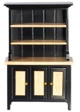 Dolls House Black & Oak Welsh Dresser Miniature Kitchen Dining Room Furniture