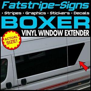 PEUGEOT BOXER VINYL WINDOW EXTENDER STICKERS GRAPHICS DECAL CAMPER VAN MOTORHOME