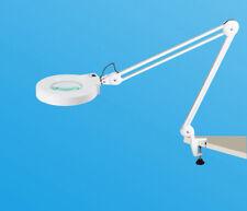 8X Magnifier Led Lamp Light Magnifying Glass Lens Desk Table Clamp Repairing