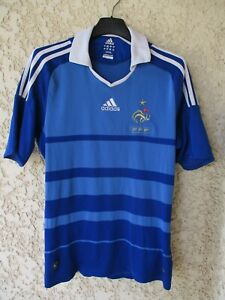 Maillot EQUIPE DE FRANCE 2008 2009 ADIDAS shirt jersey vintage maglia home S