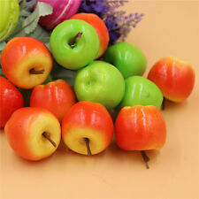 Pack 50 Mini Artificial Faux Apples Fake Fruit DIY Crafts Kitchen Home Decor