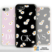 PERSONALISED FLORAL Phone Case Cover Fashion Name for iPhone Samsung Hard/Rubber