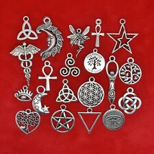 Tibetan Silver Pagan Symbols Wiccan Wicca Celtic Witchcraft Charms Pendants