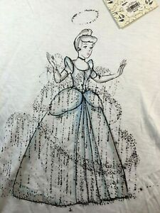 LC Lauren Conrad Disney Princess Cinderella T shirt Medium NWT