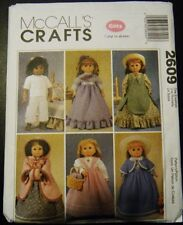 """McCALL'S PATTERN 2609 FOR AMERICAN GIRL OR ANY 18""""DOLL"""