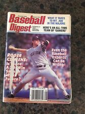August 1991 Roger Clemens Boston Red Sox Baseball Digest Magazine OLD Vintage