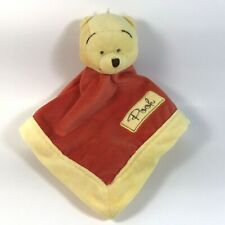 Winnie The Pooh Lovey Disney Baby Security Blanket Embroidered 2011 Kidsline