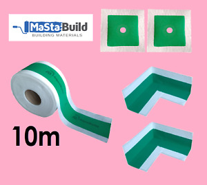 10m Waterproof Tape 2x inner Corner Joints 2x Pipe Collars Chemical Resistant