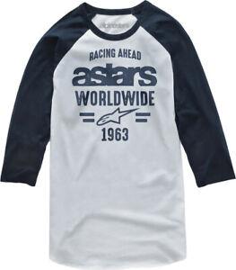 Alpinestars Men's Entice Tee T-Shirt (White/Navy) XL