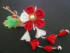 "Japanese Maiko Geisha Kimono ""Hana"" Floral Kanzashi Hair Ornament w/ Clip #103"