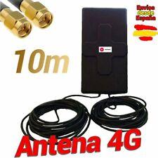 🔥 Antena 4G Wonect 50dBi Negra Exterior 10 metros Cable Conector SMA Macho 10m