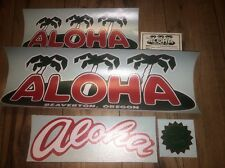 ALOHA Palm Trees, Door and Award Vintage Travel Trailer Decals Complete Set 5