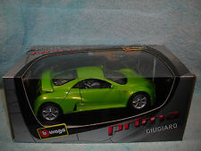 1/18 SCALE DIECAST 2002 PRIMA GIUGIARO IN METALLIC LIME GREEN BY BBURAGO.