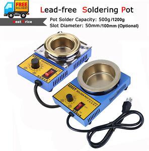 300/150W Lead-free Solder Pot Soldering Desoldering Bath Titanium Plate 50/100mm