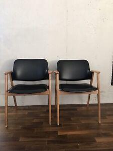 2 Stück Mid Century Vintage Sessel Armlehnstuhl Stuhl ähnlich Berlitz 50er 60er