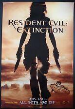 RESIDENT EVIL EXTINCTION ORIG 2007  1 SHEET POSTER MILLA JOVOVICH ALI LARTER
