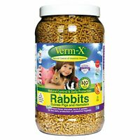 Verm-X Herbal Nuggets For Rabbits, Guinea Pigs & Hamsters - 2 x 1.5 KG TUB [VMX0
