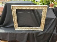 "Vintage Antique Frame Fits 16"" X 20"" Picture Painting Overall 21"" X 25"" Craft"
