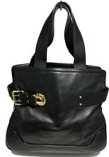 MARC JACOBS BLACK LEATHER TOTE BAG, $1250