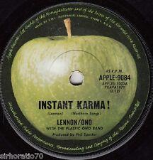 LENNON / ONO Instant Karma! / Who Has Seen The Wind? 45 - Beatles Apple