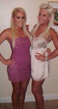 Topshop Purple Diamond Bandeau Mesh Dress! Size 8!