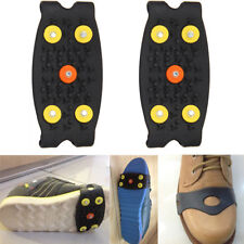 2PCS Ice Climbing Non-slip Spikes Grips Crampon Cleats TPE 5-Stud Shoes Covers