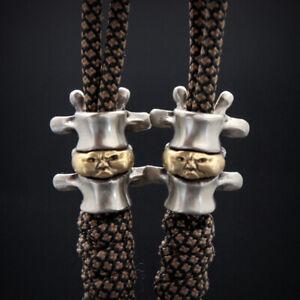 EDC Tibetan Silver Brass Beads A Pendant Paracord Outdoor DIY Decorations