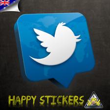 Twitter Bird Instagram Like Social Media Luggage Skateboard Vinyl Decal Sticker
