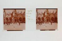 Venezia Marc Sano Venezia Italia Placca Da Lente Stereo Positive Ca 1905