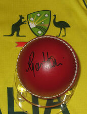 Ryan Harris signed Red Cricket Ball + C.O.A. & Photo Proof of signing