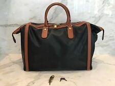 19c020253529 BOTTEGA VENETA MARCO POLO VINTAGE TRAVEL OVERNIGHT DUFFLE LUGGAGE BLACK    BROWN