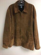 Polo Ralph Lauren Men's Brown Suede Leather Zip Front Jacket L