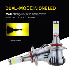 2x 9005 Yellow Color 3000K COB LED Fog Driving light bulb 2400LM Switchback
