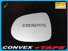 Left Side Convex Stick On Wing Mirror Glass For HONDA JAZZ 2001-2005 + TAPE #268