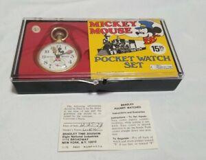Mickey Mouse Bradley Time Pocket Watch 1974