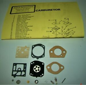 AQUASCOOTER OEM CARB KIT for 600/650/Super-Magnum With F/R GASKETS free shipping