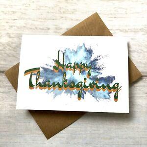 Happy Thanksgiving Greeting Card (blank Inside) Festive Holiday Turkey Thanks