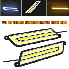 1Pair DC 12V Car COB LED DRL Daytime Running Light Turn Signal Light Waterproof