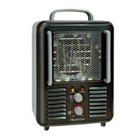 Comfort Zone CZ798BK Milkhouse Utility Heater with Steel Body