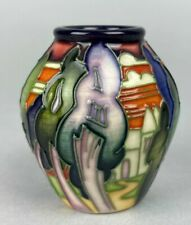 "Moorcroft  Miniature '""Lodge Hill""  Vase - Designed by Emma Bossons Boxed - 2007"