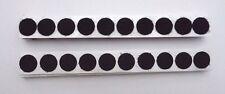 20 x Klettpunkte Ø 16mm Schwarz Hakenband  Klettverschluss Klett selbstklebend