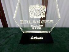 1980 Jos Schiltz Erlanger In Bottles Beer Tabletop Lite-Up Display/Bar Sign