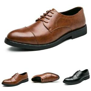 Mens Low Top Dress Formal Shoes Pointy Toe Work Office Business Oxfords Casual L