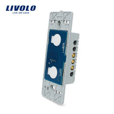 Livolo US Standard DIY Parts 2Gang 1Way Remote Switch Base Without Glass Panel