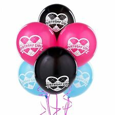 6 Monster High Party Blue Pink Black Printed Latex Balloons
